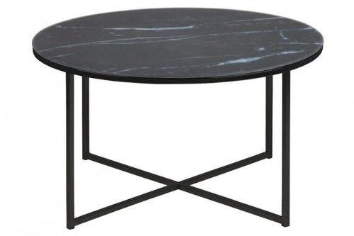 Stolik kawowy Alisma okrągły black