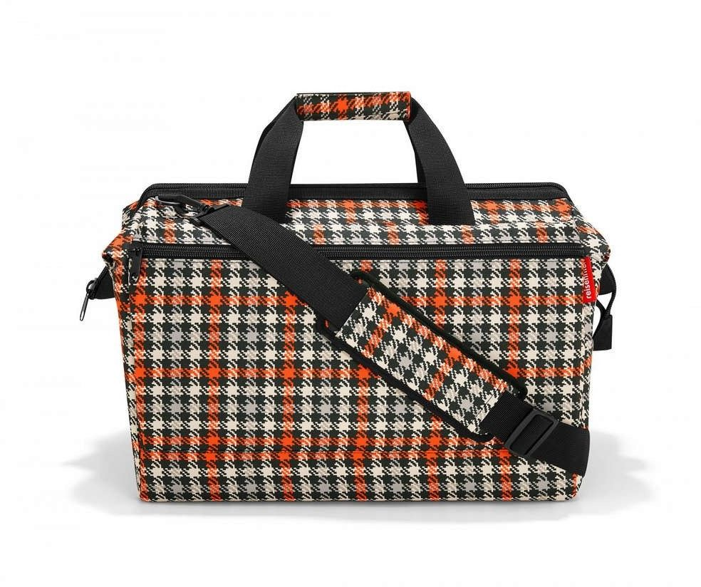 Reisenthel - glencheck red - torba allrounder l pocket