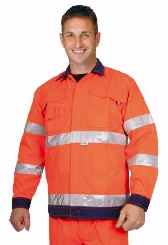 Bluza robocza ostrzegawcza VISION w kolorze pomarańczowym