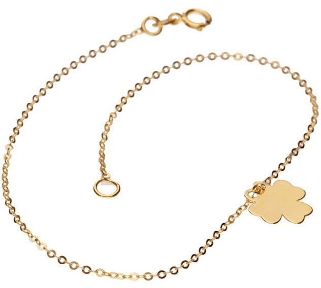 Złota bransoletka 333 celebrytka koniczynka 0,50 g