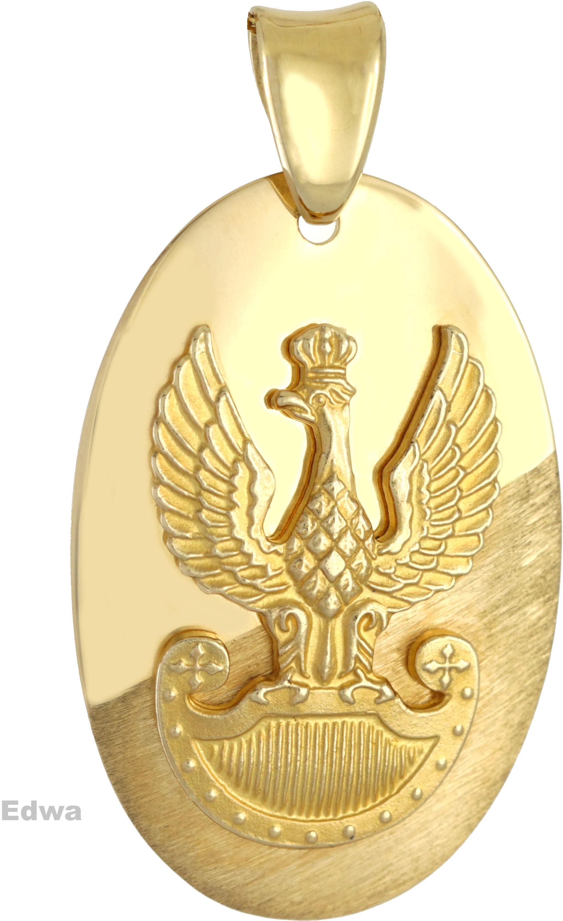 Zawieszka złota Orzeł w Koronie pr.585