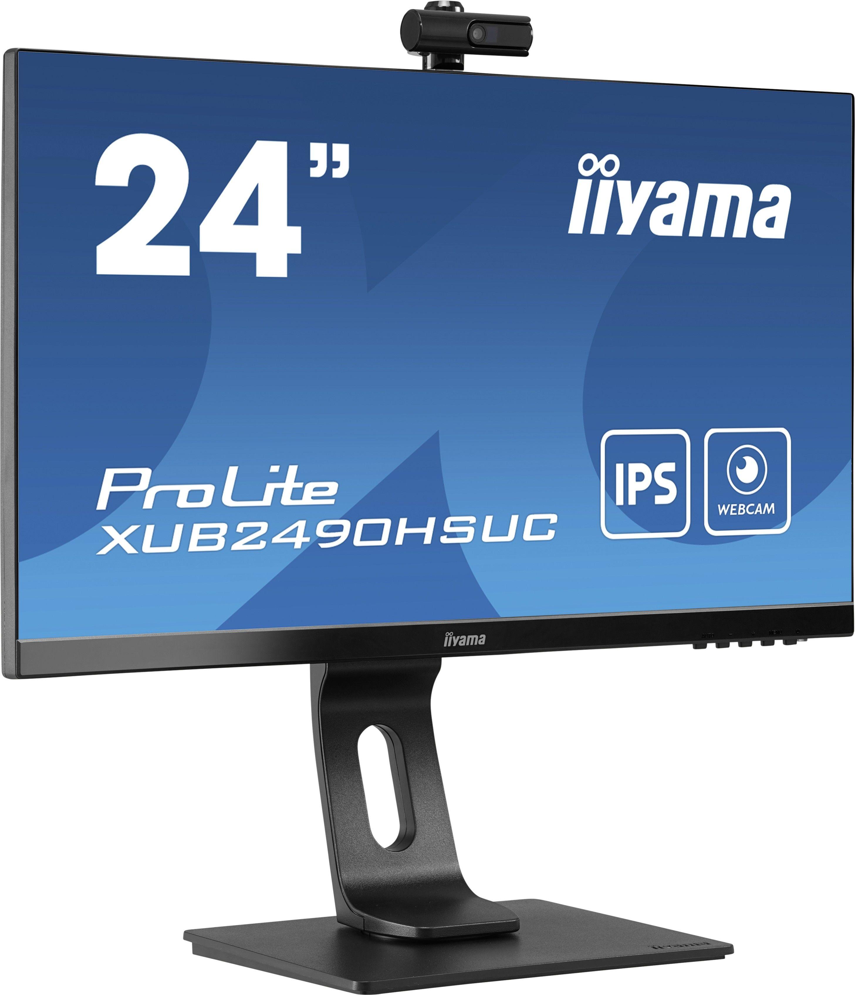 """Monitor iiyama ProLite XUB2490HSUC-B1 24"""" IPS ze zintegrowaną kamerą i mikrofonem HDMI, VGA, DisplayPort, USB + WYSYŁKA W 24H GRATIS !! AUTORYZOWANY SKLEP IIYAMA"""