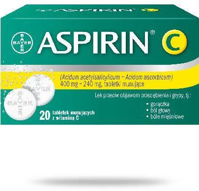 Aspirin C 400mg + 240mg 20 tabletek musujących z witaminą C