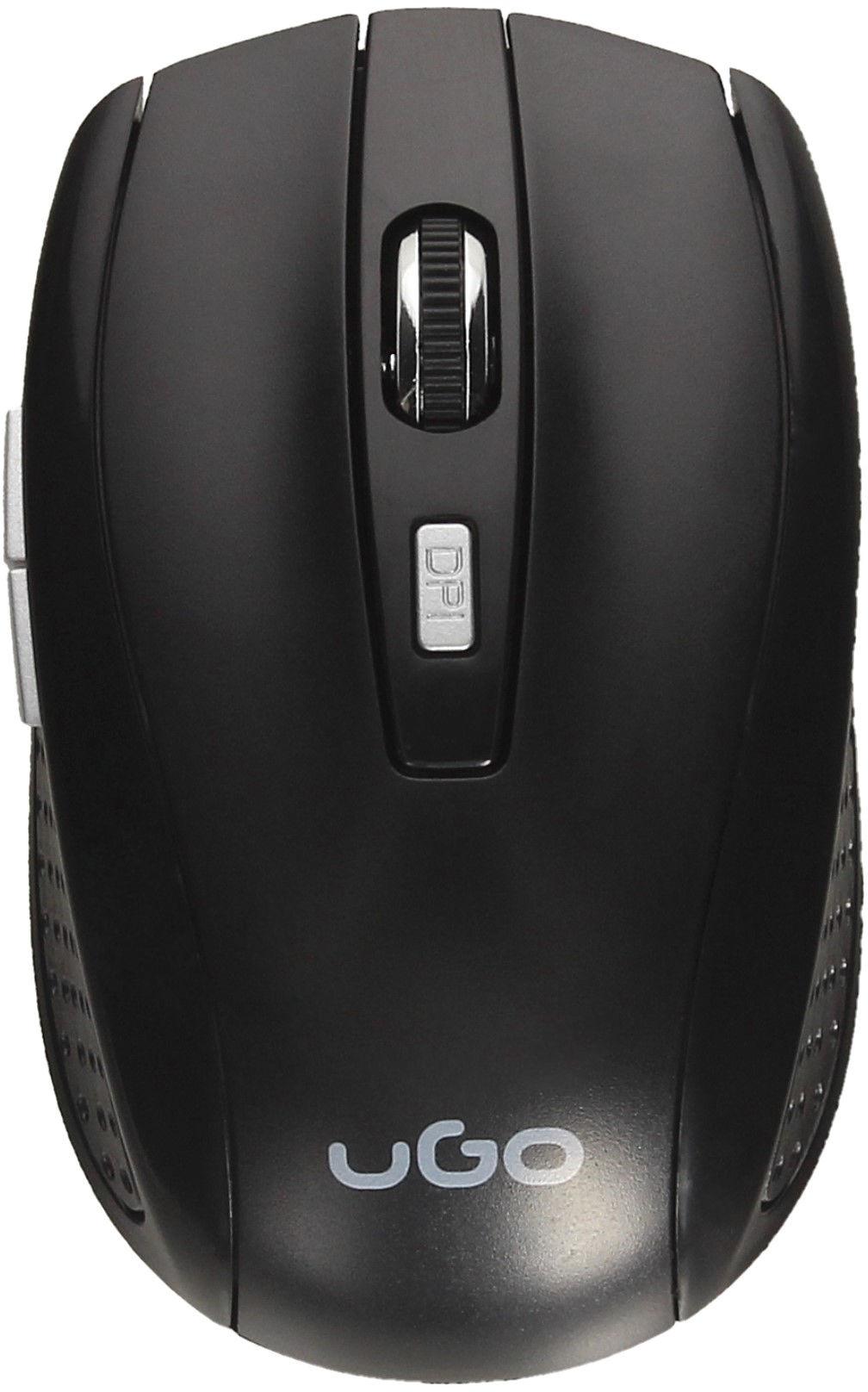 Mysz optyczna bezprzewodowa USB czarna UGO MY-03