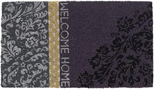 HMT 147300 Vintage Welcome Home wycieraczka Coco fioletowa 40 x 70 cm