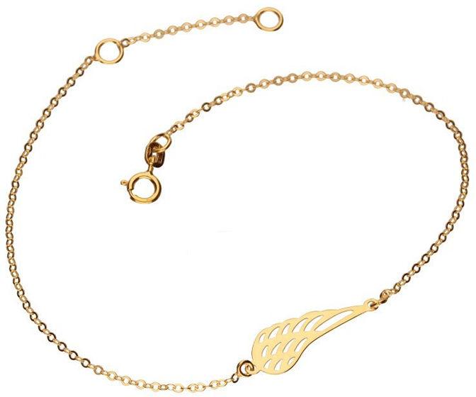 Złota bransoletka 333 skrzydło ażurowe 0,56 g