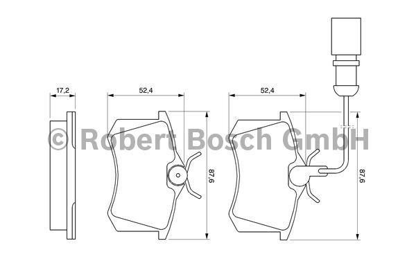 klocki hamulcowe Bosch - tył z czujnikiem
