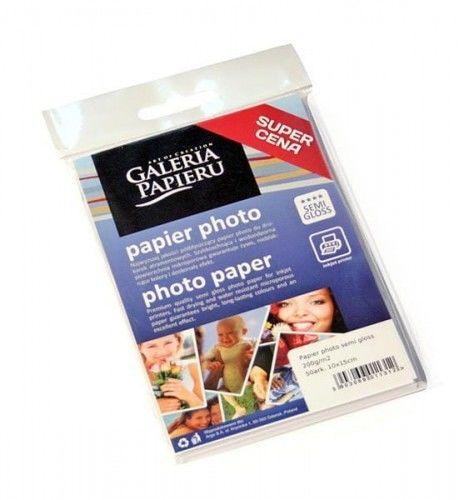 Papier photo semi glossy 10x15cm 200g/m2 - 50 ark fotograficzny półmat