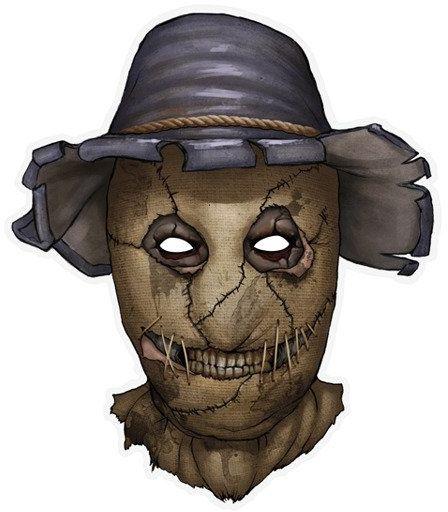 Maska papierowa Strach na Wróble 1szt MASP12