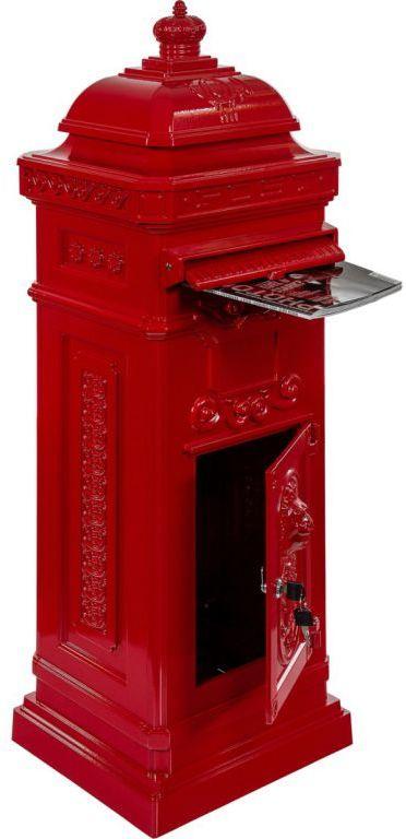 Skrzynka na listy antyczna czerwona