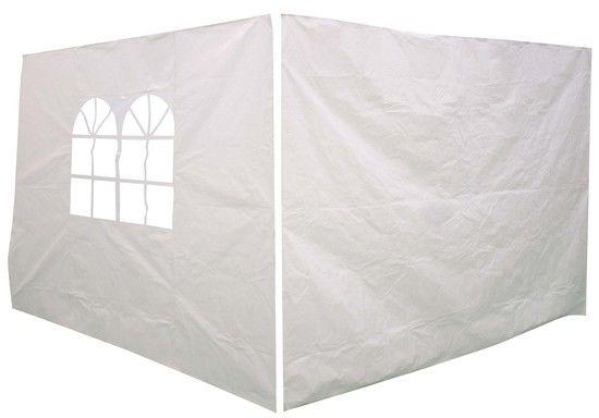 Ścianki do pawilonu 3 x 3 m białe 2 szt.