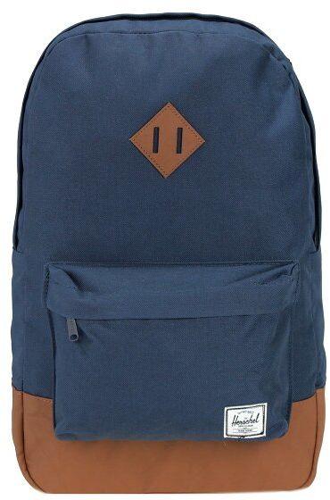Herschel Heritage Plecak 47 cm przegroda na laptopa navy tan synthetic leather