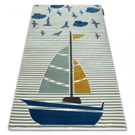 Dywan PETIT SAIL łódka, żaglówka zielony 80x150 cm