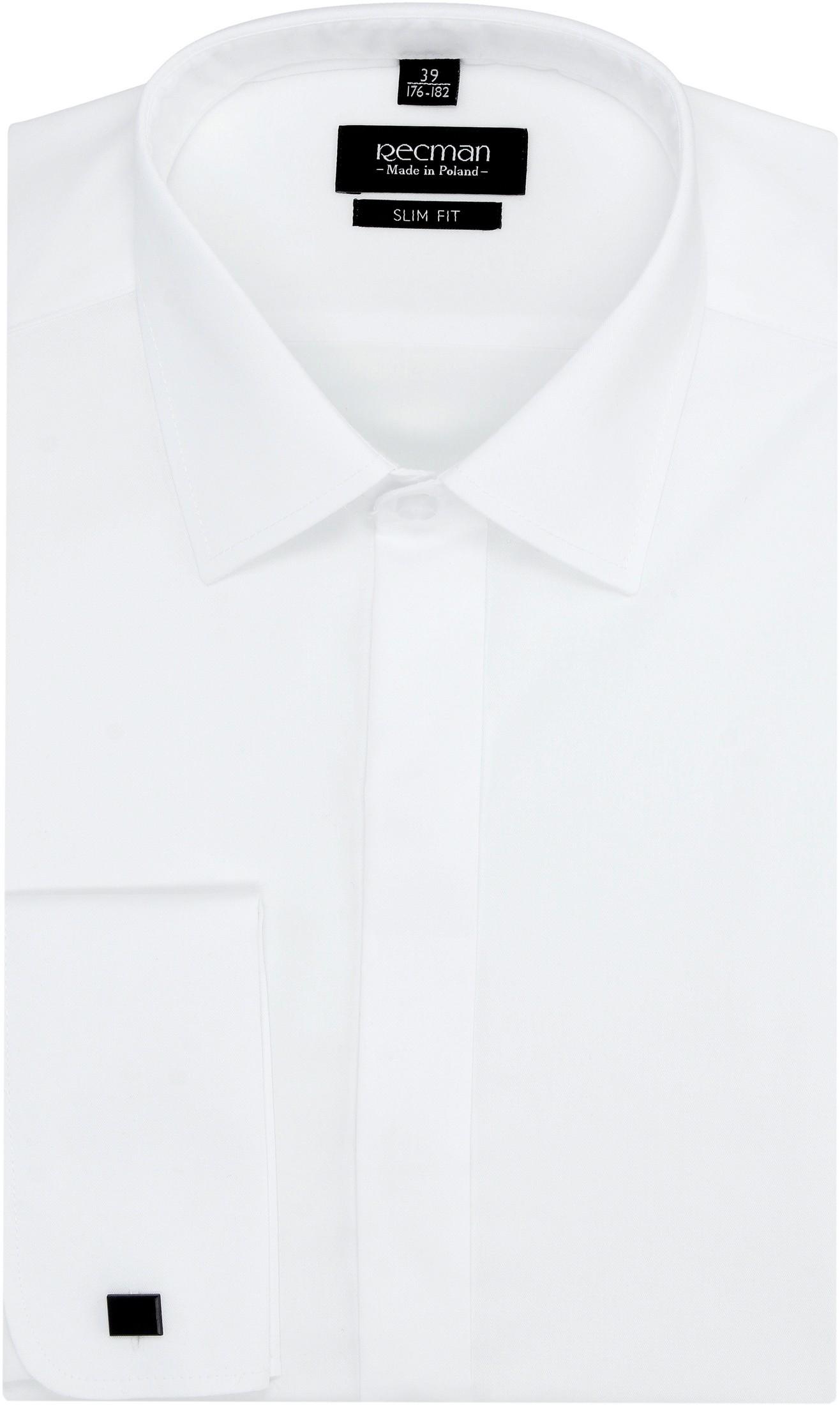 koszula versone 2383 na spinki slim fit biały
