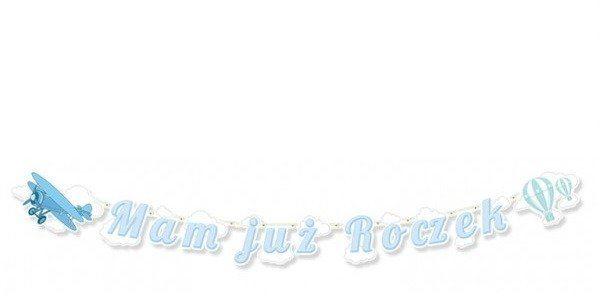Baner na 1 urodzinki - Mam już Roczek, niebieski 183cm 1szt. BR33