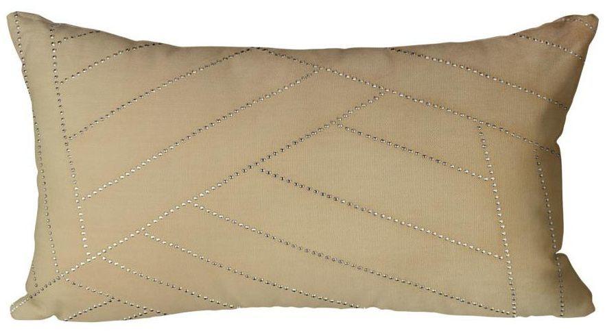 Poduszka Glossy beżowa 50 x 30 cm