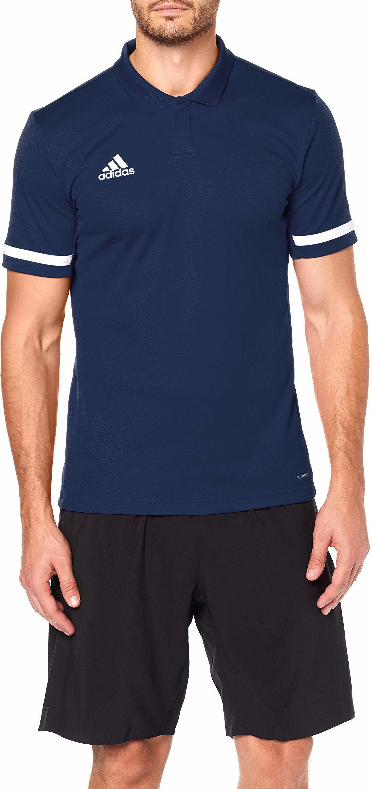 adidas Męska koszulka polo T19 Polo M niebieski Granatowy (Team Navy Blue)/bia?y 3XL