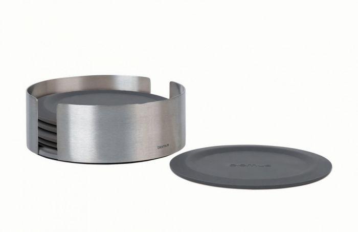 Blomus LARETO Podkładki - Podstawki pod Szklanki - Szare Magnet