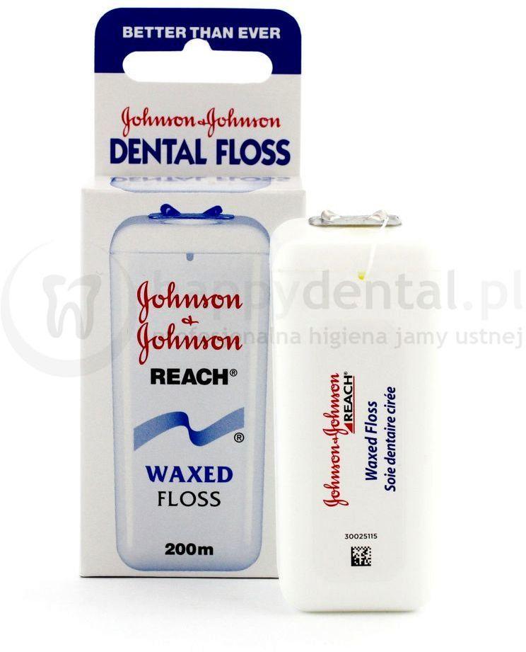 JOHNSON AND JOHNSON REACH Dental Floss 200m - klasyczna nić dentystyczna - DŁUGA ROLKA