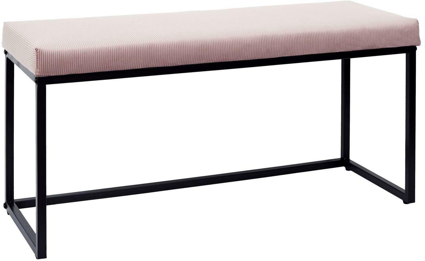 Ławka tapicerowana DONORE różowa