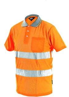 Koszulka polo ostrzegawcza DOVER w kolorze pomarańczowym