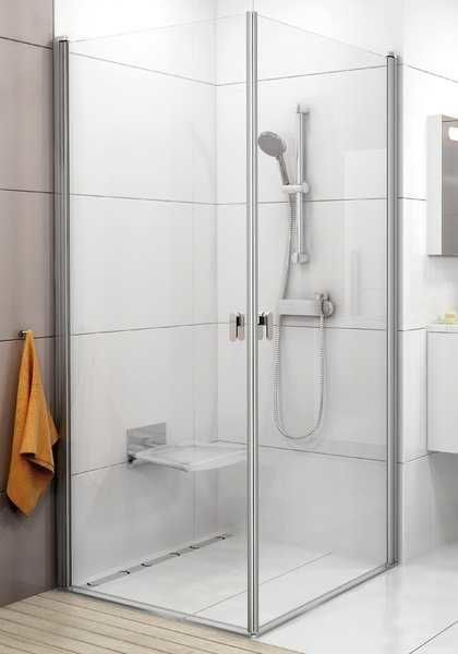 Kabina prysznicowa kwadratowa Ravak Chrome narożna CRV1+CRV1 100x100 cm, wys. 195 cm, Biały+Transparent 1QVA0101Z1/1QVA0101Z1