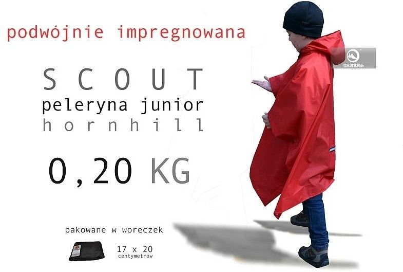 Lekka Dziecięca Peleryna Scout