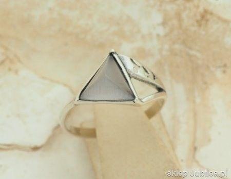 Ester - srebrny pierścionek z kocim okiem