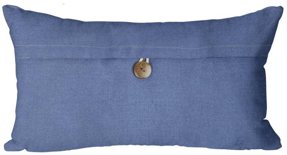Poduszka Vintage niebieska 50 x 30 cm