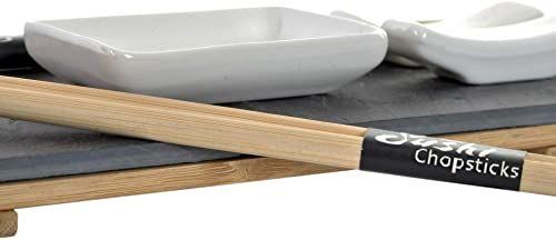 Item SM-154841 zestaw do sushi 6 sztuk na płycie 30 x 10 cm, naturalny