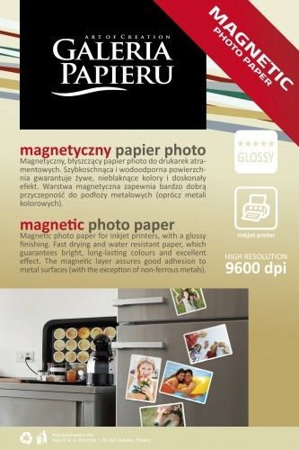 Papier photo magnetyczny 10x15cm - 5 ark