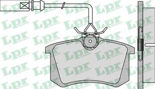 klocki hamulcowe LPR - tył z czujnikiem