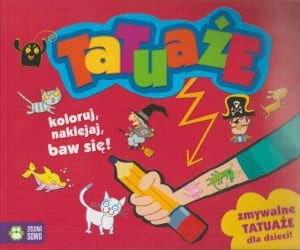 Tatuaże Zmywalne tatuaże dla dzieci (okładka czerwona)