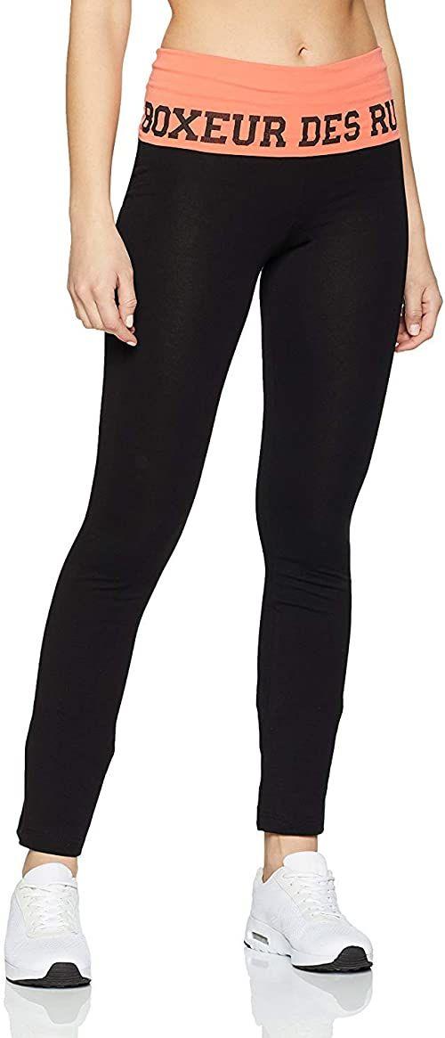 Boxeur Des Rues Damskie spodnie z serii Fight Activewear Czarny/koralowy XS