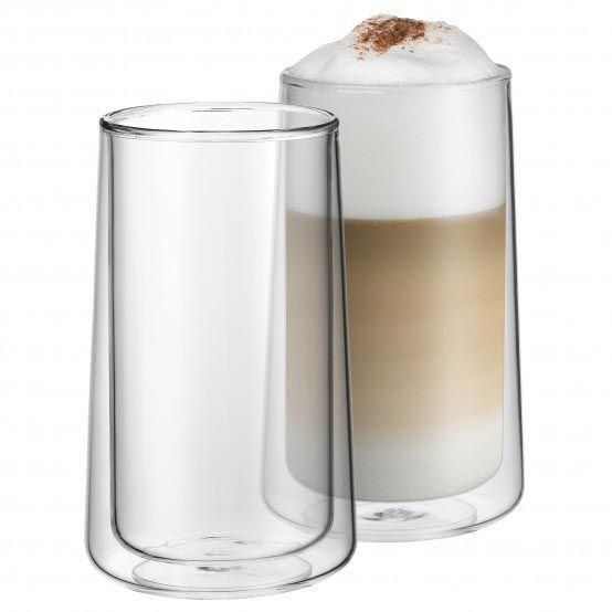 WMF Coffee Time - Szklanki Termiczne do Kawy Latte 270 ml 2 Szt.