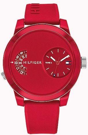 Zegarek Męski Tommy Hilfiger Denim czerwony - 1791557