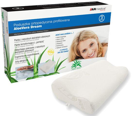 Antybakteryjna poduszka ortopedyczna z ALOESEM (mfp-5030af)