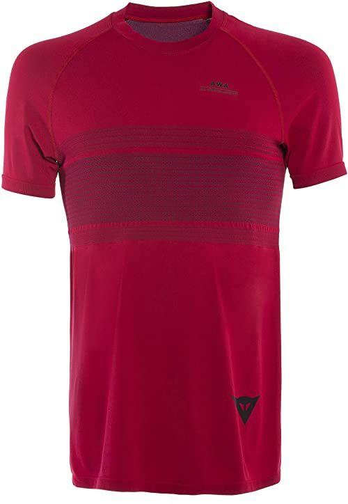 Dainese Awa 4 t-shirt męski czerwony Chili-pepper/Black-iris M