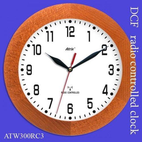 Zegar drewniany sterowany radiowo K3