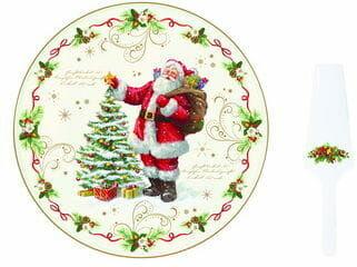 Easy Life/Nuova R2S, talerz 30cm+łopatka MERRY CHRISTMAS