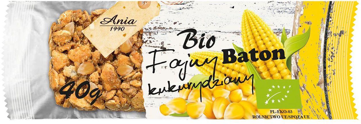 Baton kukurydziany bio 40 g - bio ania