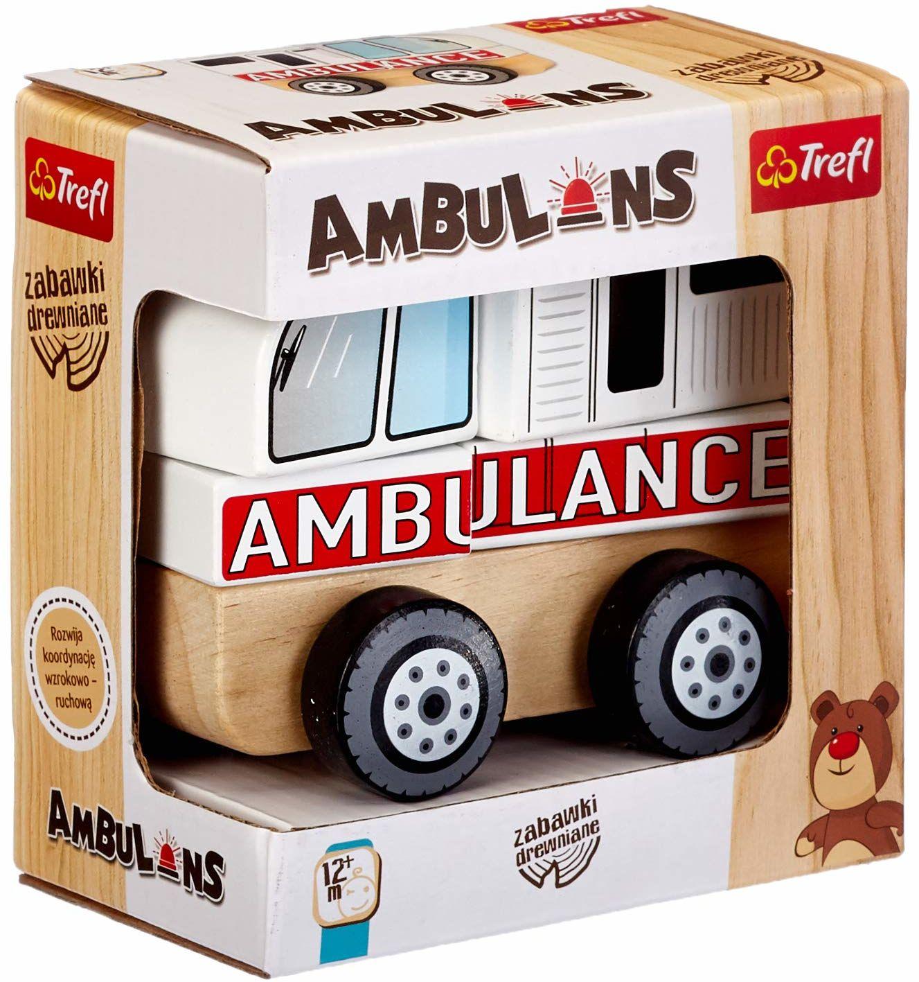 Trefl 61000,Zabawka Drewniana, Ambulans 61000