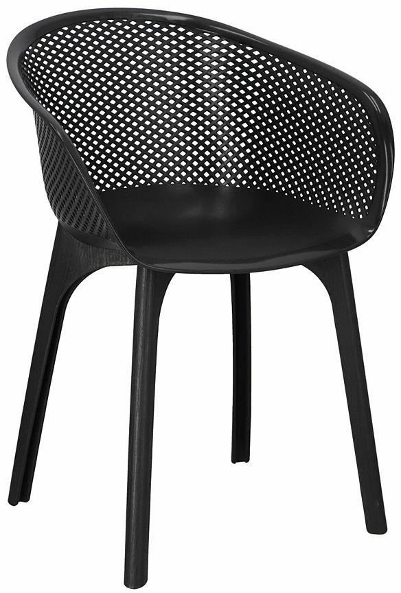 Ażurowe krzesło czarne - Bliss