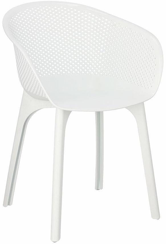 Ażurowe krzesło białe - Bliss