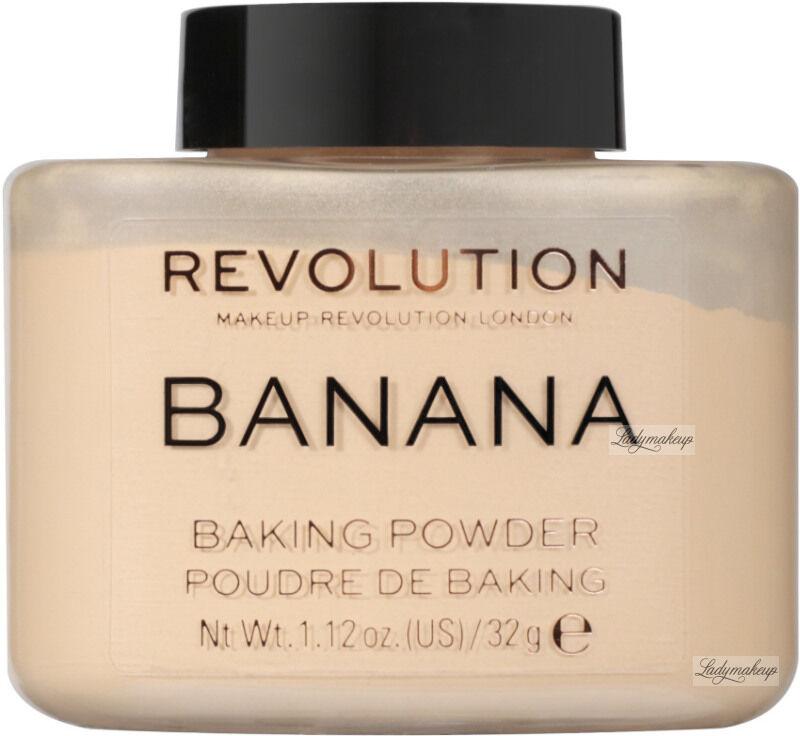 MAKEUP REVOLUTION - BAKING POWDER - Sypki puder bananowy