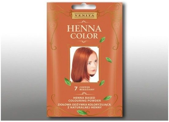 Venita Henna Color ziołowa odżywka koloryzująca z naturalnej henny7 Miedź
