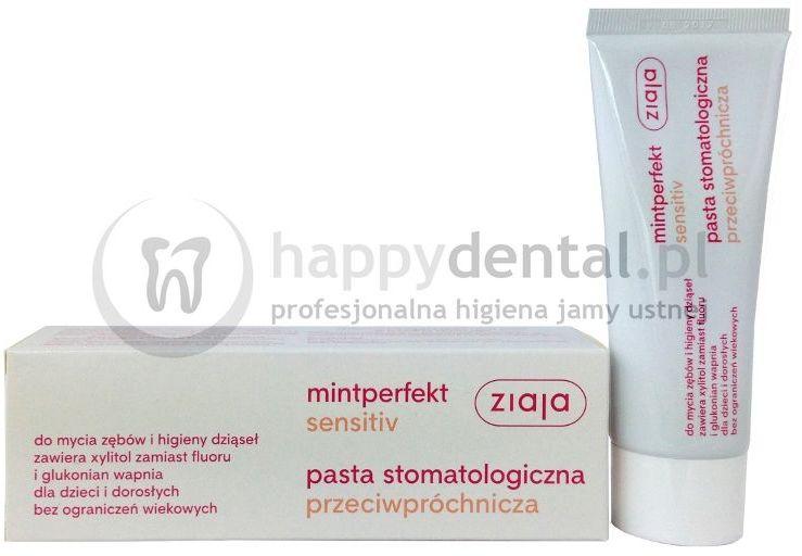ZIAJA MINTPERFECT SENSITIVE pasta 75ml - przeciwpróchnicza pasta do zębów bez fluoru