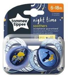 Smoczek Uspokajający Night Time 6-18 Tommee Tippee
