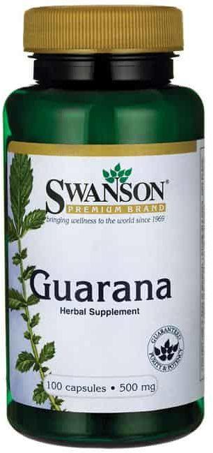SWANSON Guarana 500mg - 100 kapsułek