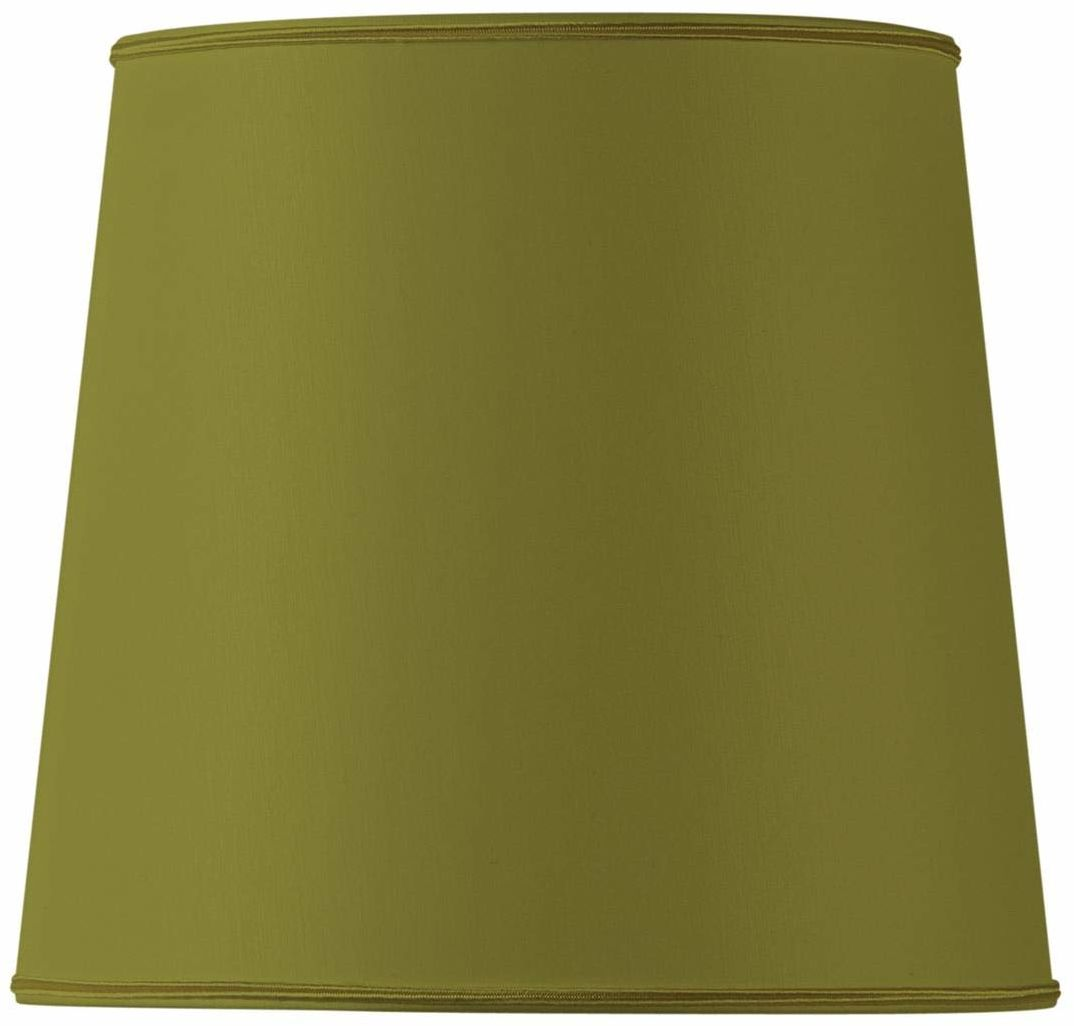 Klosz lampy w kształcie litery U, średnica 35 x 28 cm, zielony/brąz